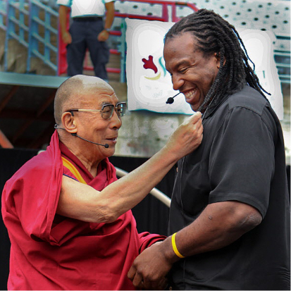Georges Laraque and the Dalai Lama